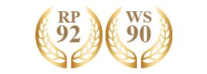ロバート・パーカー92、ワイン・スペクテイター誌90受賞